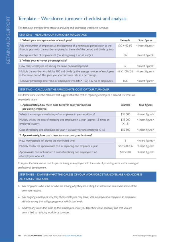 workforce turnover checklist and analysis template 1