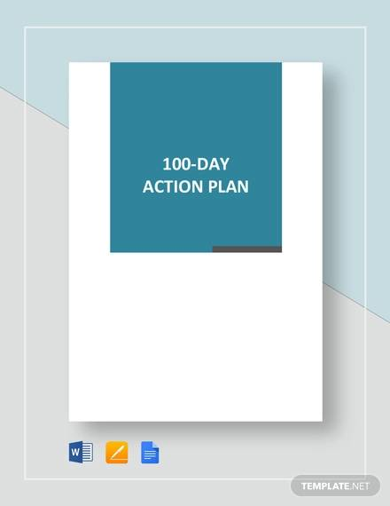100 day action plan template