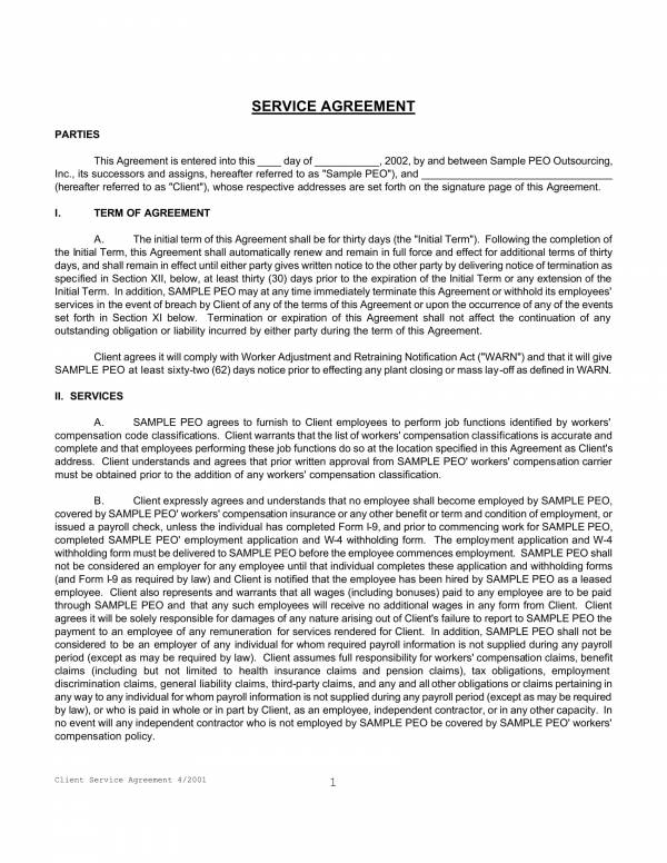 9 Outsourcing Services Agreement Template Pdf Word