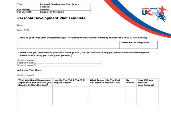 coach personal development plan template 1