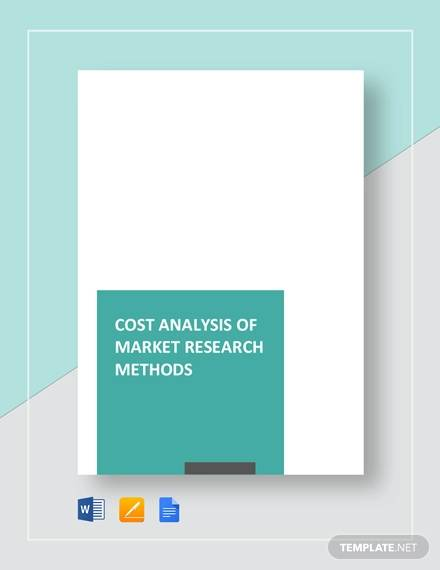 cost analysis of market research methods template
