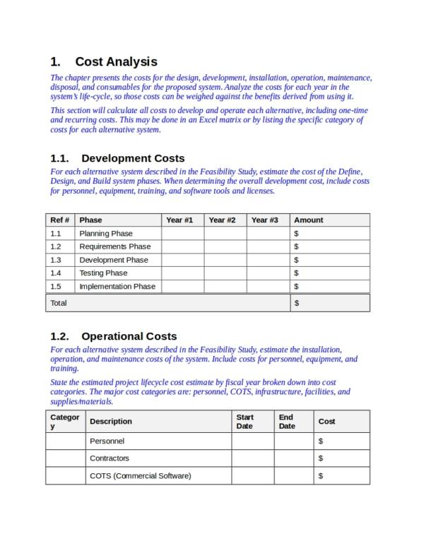 cost benefit analysis template for veterans affairs