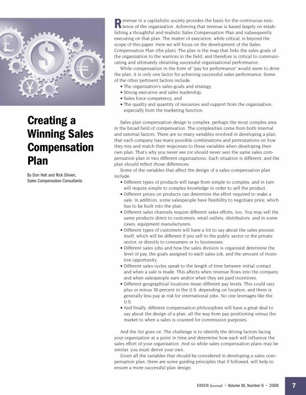 creating winning sales compensation plans 1