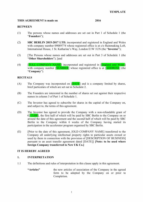 editable investment agreement template 03
