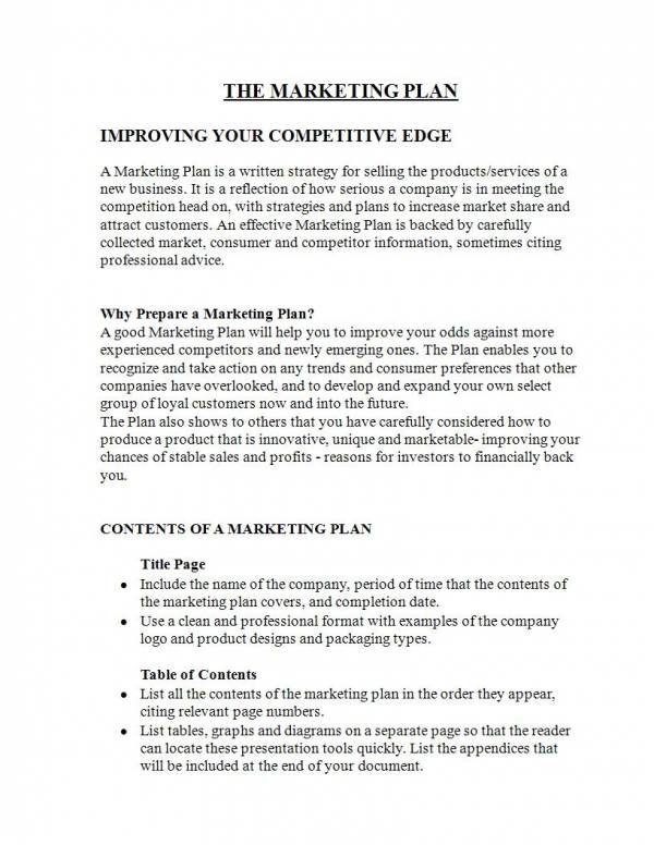 editable strategic marketing plan template