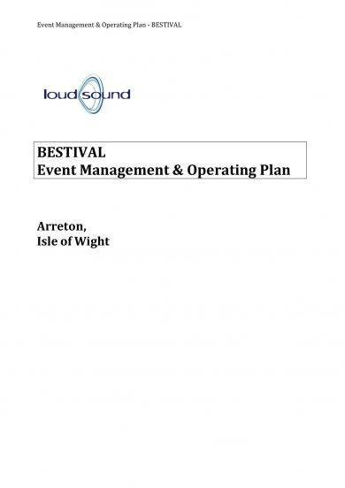 event management and operating plan sample