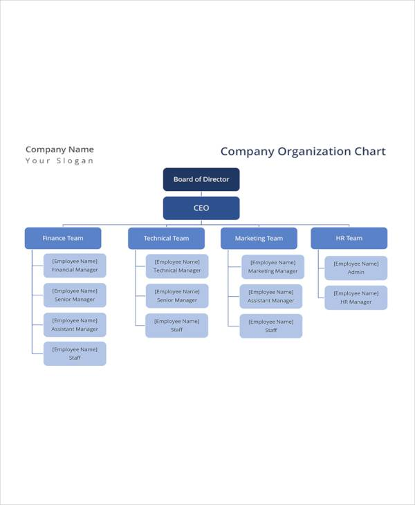 17+ Sample Organizational Chart Templates