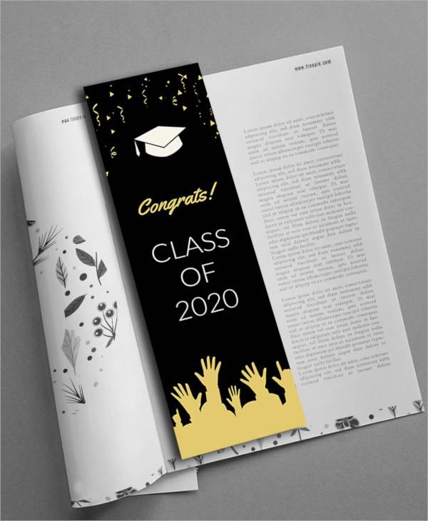 free graduation bookmark template