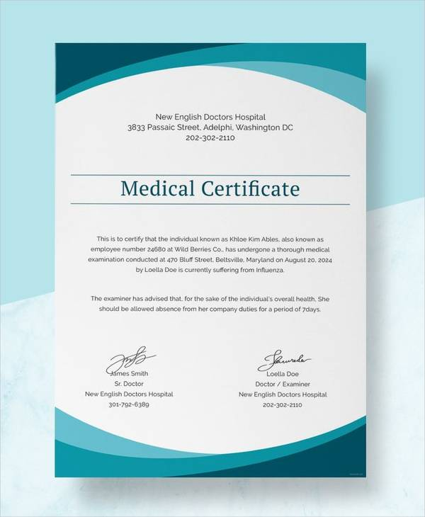 how to get a medical certificate from a doctor