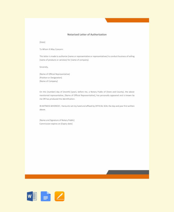 free sample notarized letter of authorization1