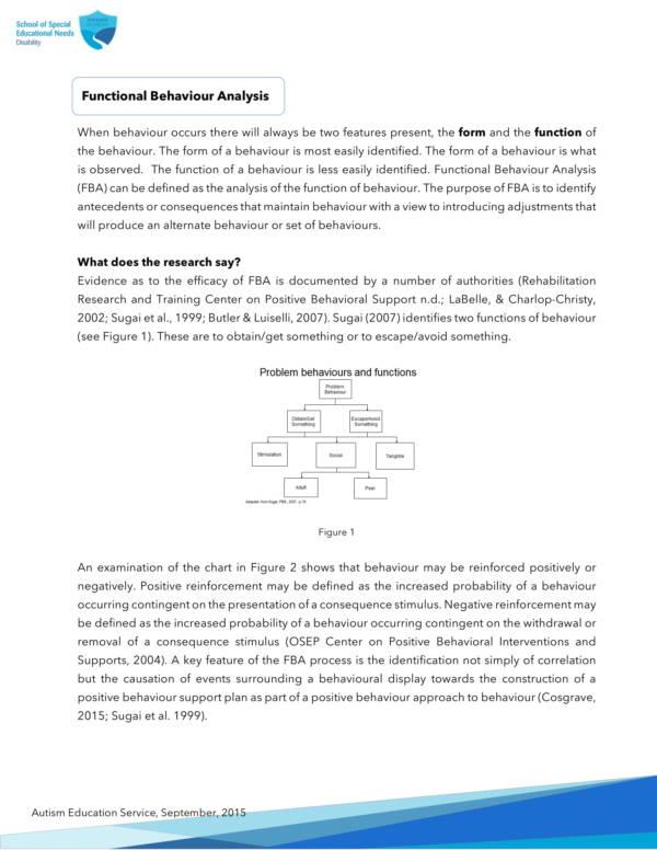 functional behavioral analysis fact sheet 1