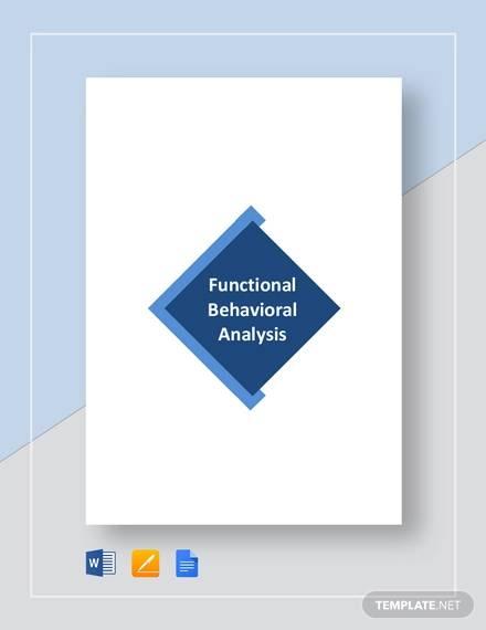functional behavioral analysis sample