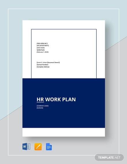 hr work plan template