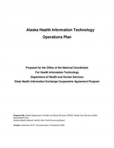 health information technology operations plan