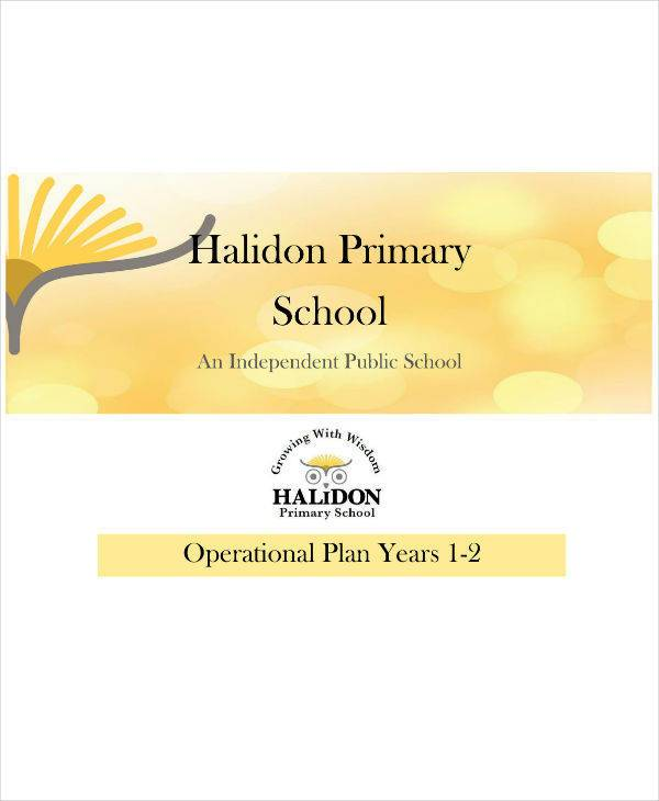 operational plan for primary school