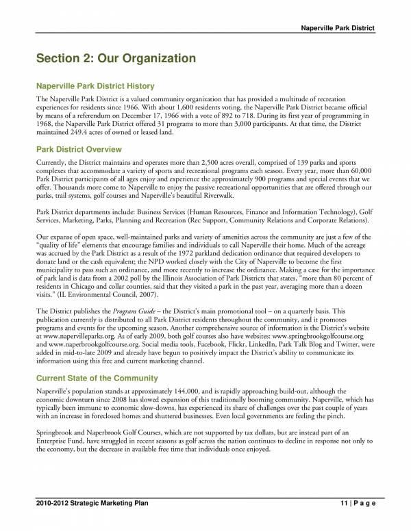 park district strategic marketing plan 11