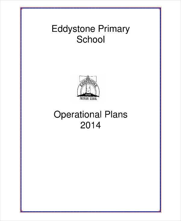 primary school operation plan sample