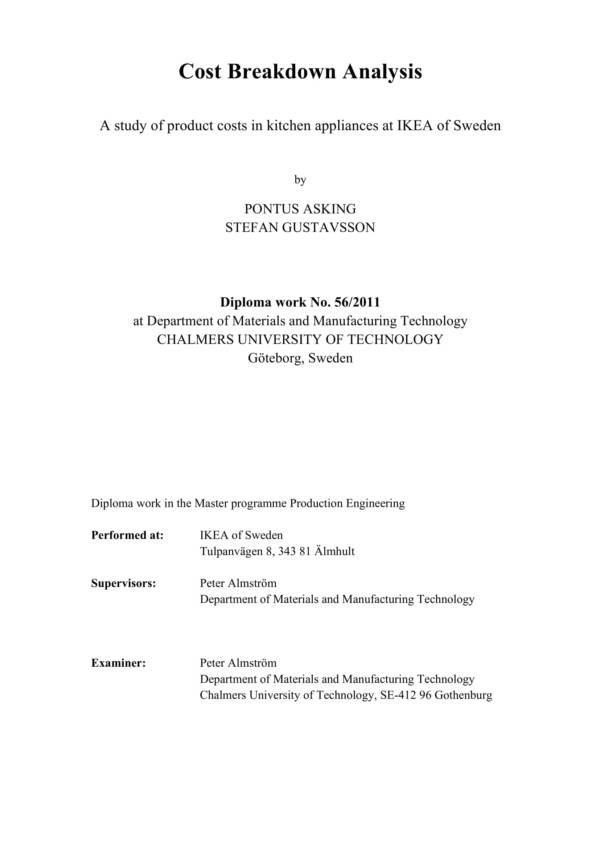 printable cost breakdown analysis 01