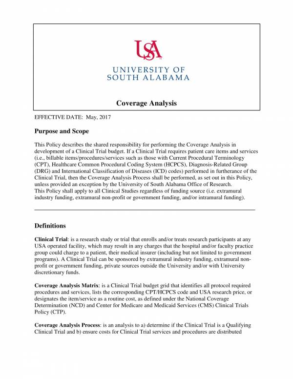 printable coverage analysis policy template 1