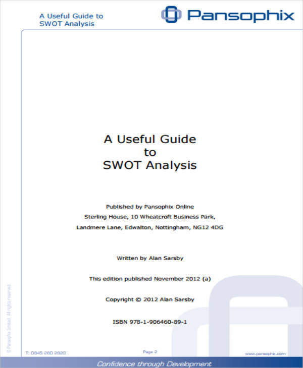 printable swot analysis template for advertising