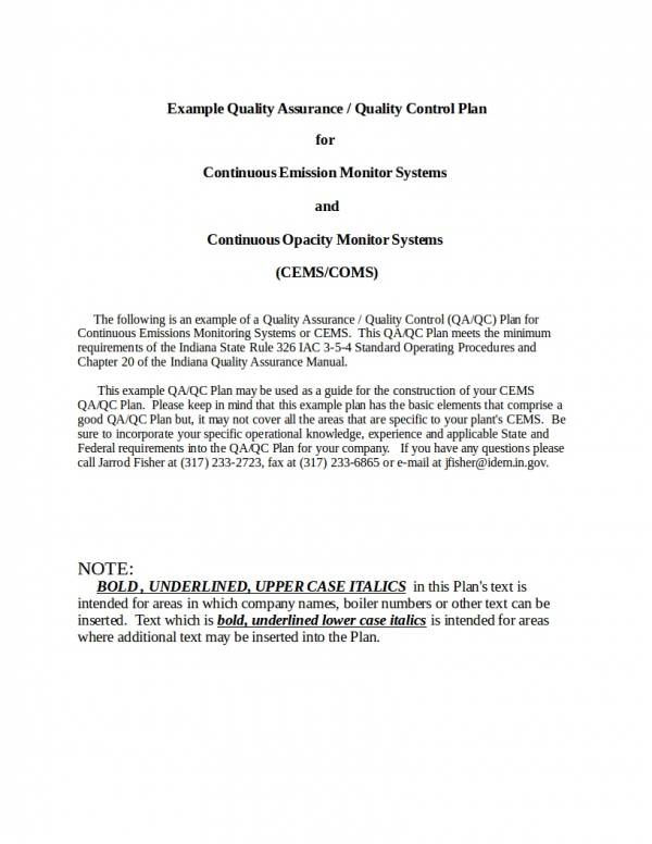 FREE 9+ Quality Assurance Plan Templates in PDF | Word