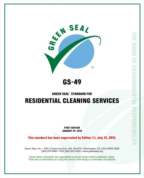 residential cleaning services operations plan