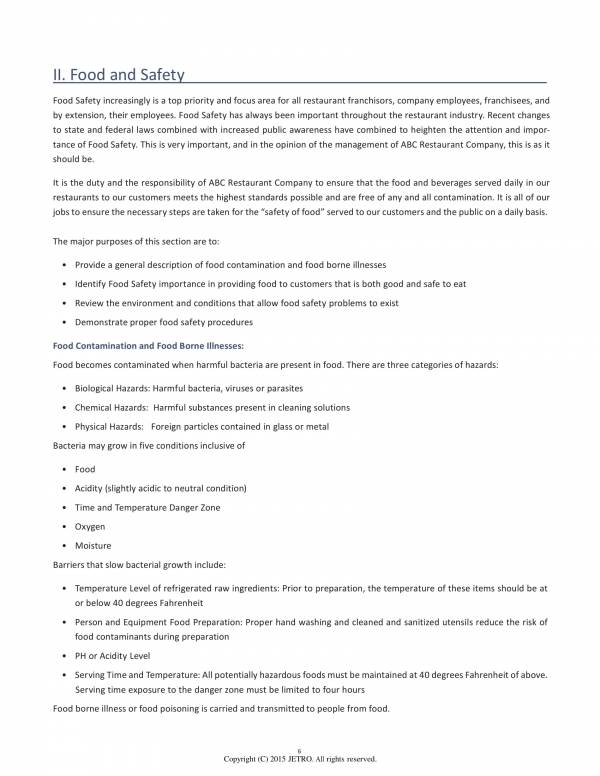 resturant operational standards manual 04