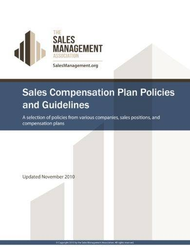 sales compensation plan format and content guidelines