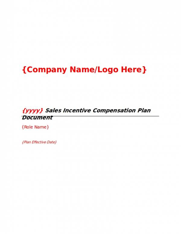 sales incentive compensation plan
