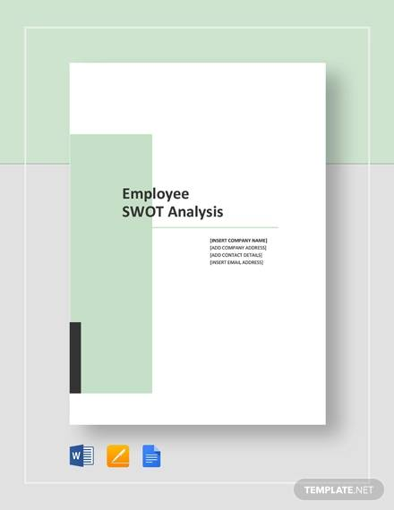 sample employee swot analysis template