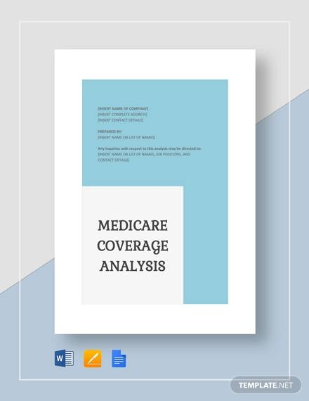 sample medicare coverage analysis