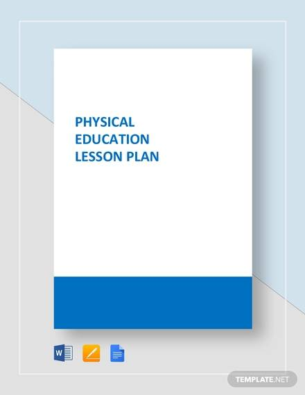 sample physical education lesson plan template