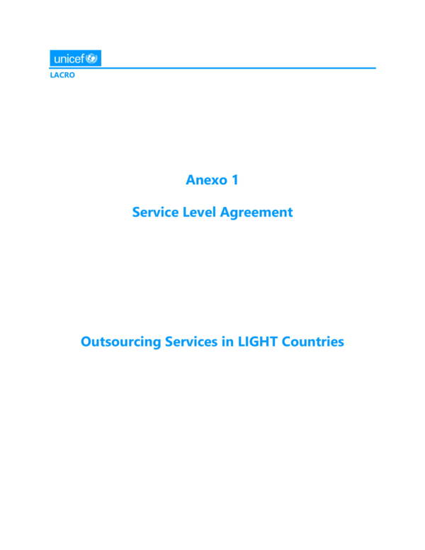 service level agreement for outsourced services 01