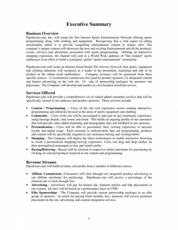 strategic business plan sample 06