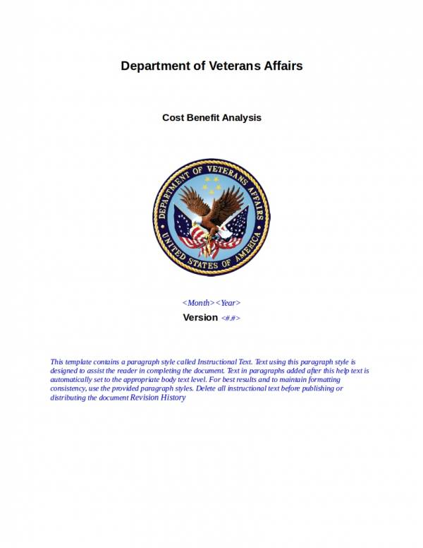veterans affairs cost benefit analysis template
