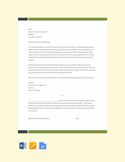 basic appointment letter template