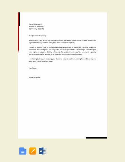 basic friendly letter