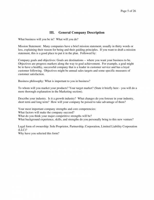 business financial plan template for startup business 04