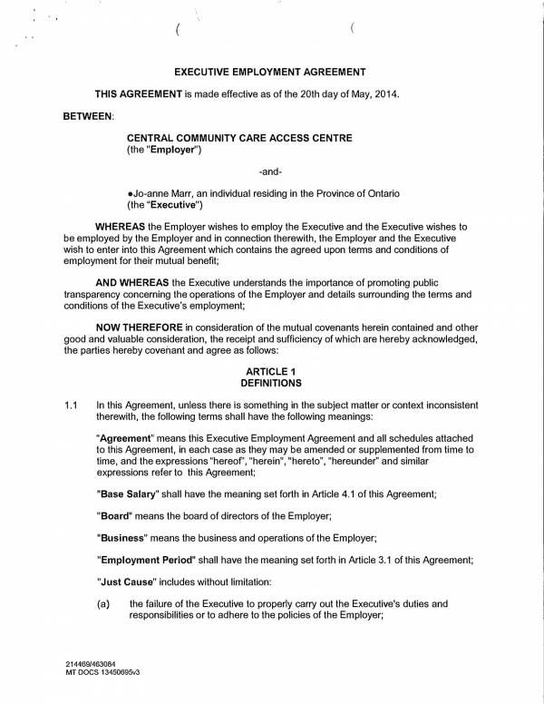 ceo employment agreement template 01