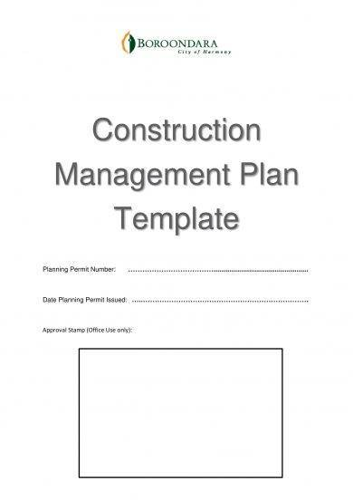 construction management and operational plan template