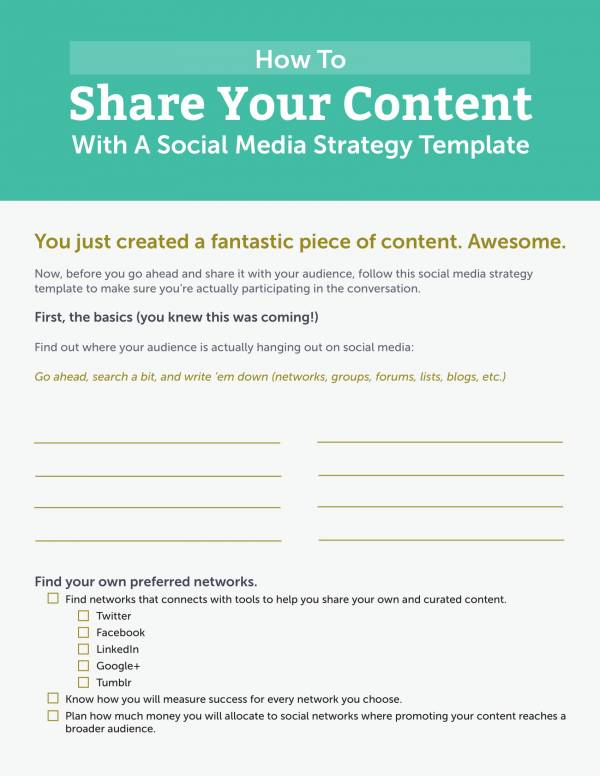 editable social media strategy template 1