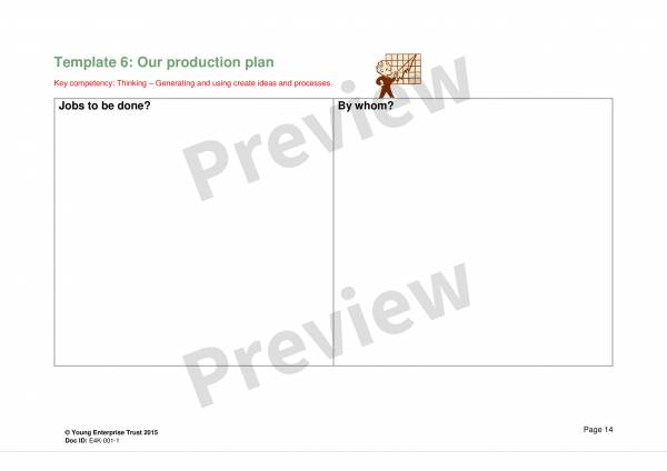 enterprice production plan sample template 1