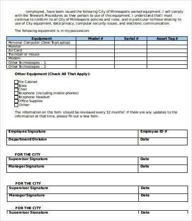 equipment sales receipt template