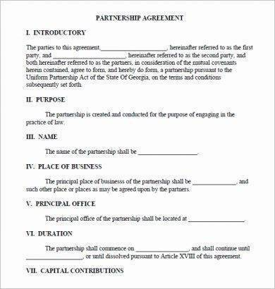 fillable real estate partnership agreement