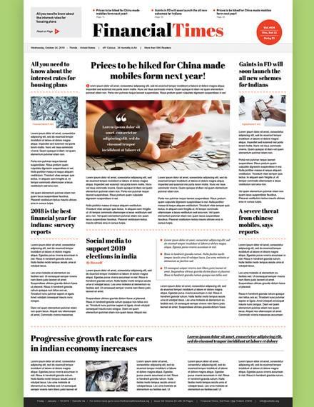 46 Amazing Newspaper Templates Pdf Ppt Word Psd