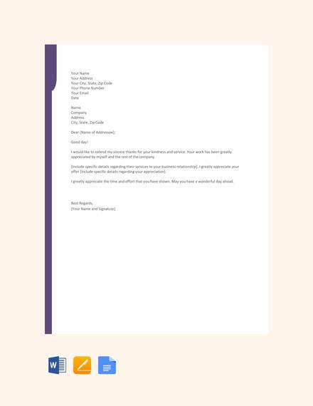 27 Sample Thank You Letters For Appreciation In Pdf