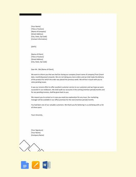 Sample Closing A Business Letter | 11 Sample Closing Business Letters Pdf Doc