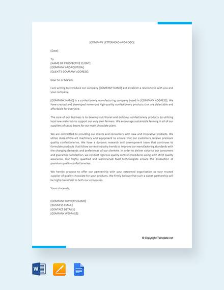 free business introduction letter