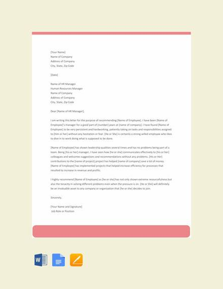 free experience letter for employee template