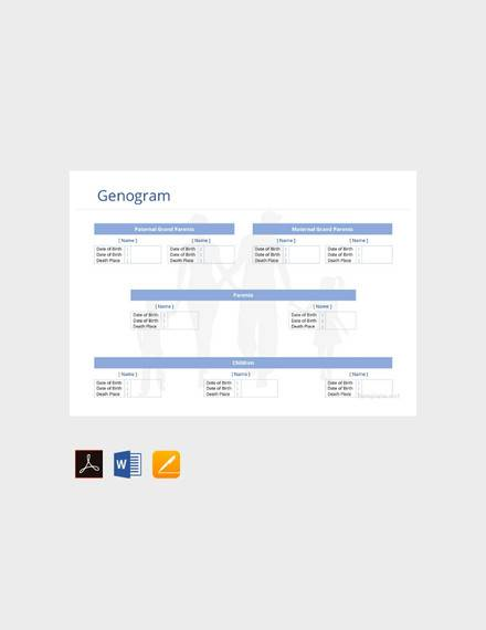 free genogram template